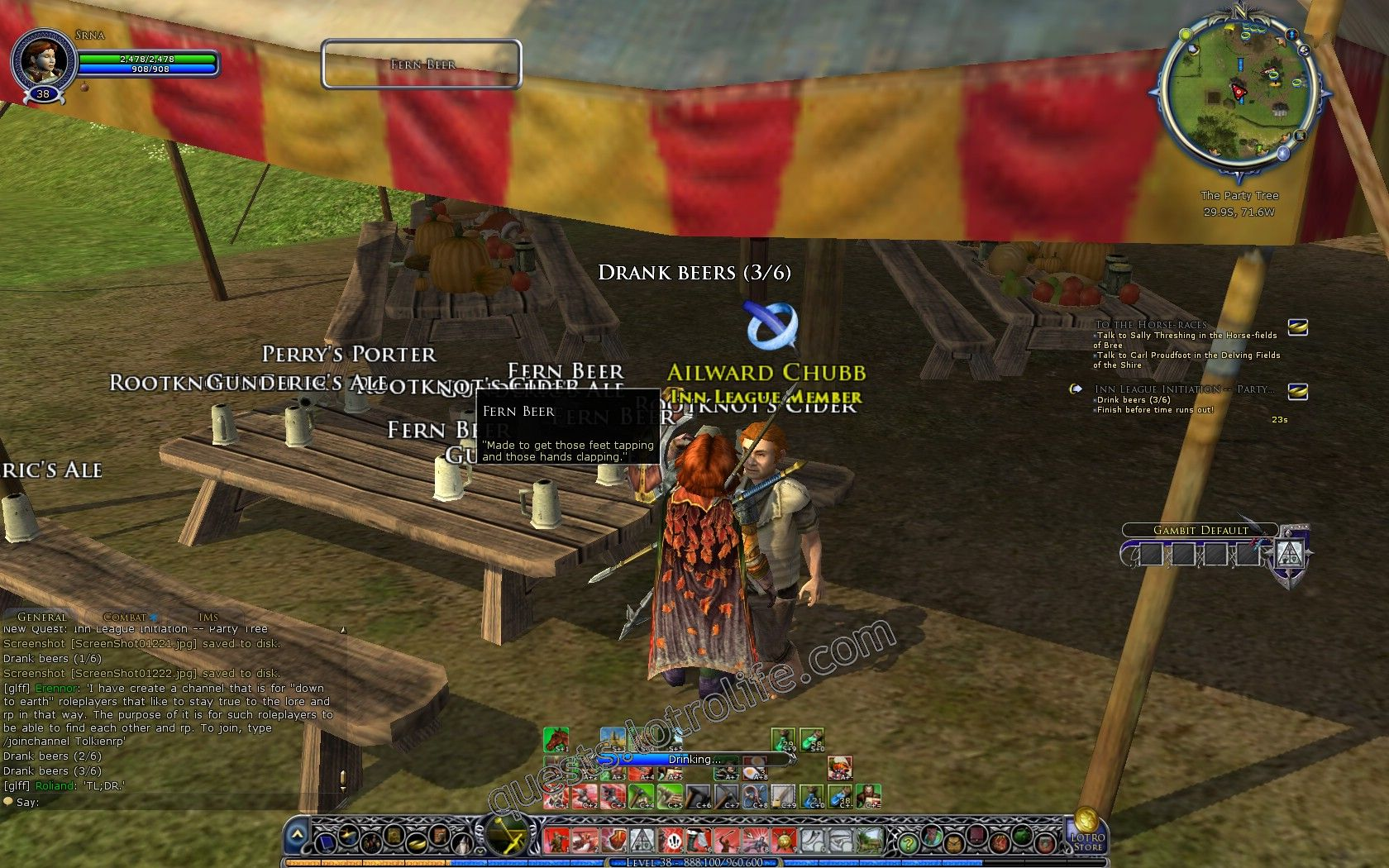Quest: Inn League Initiation -- Party Tree, objective 1 image 3929 middle size