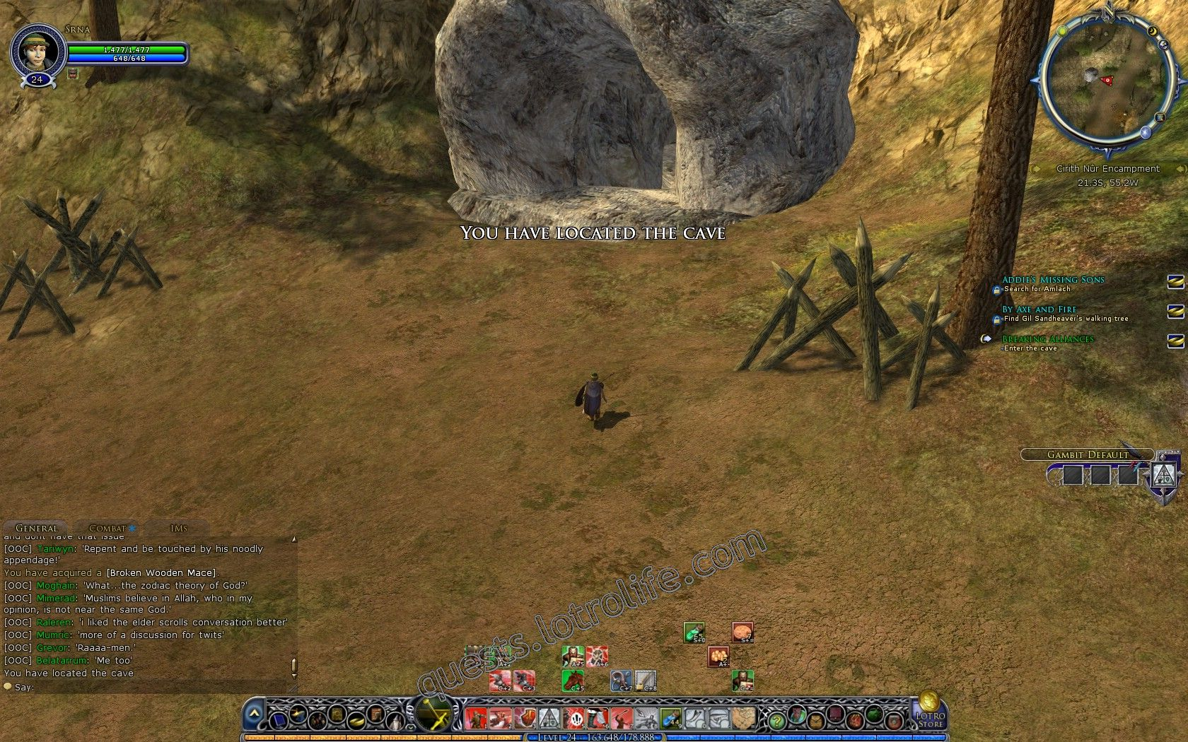 Quest: Instance: Broken Alliance, objective 1, step 2 image 1897 middle size