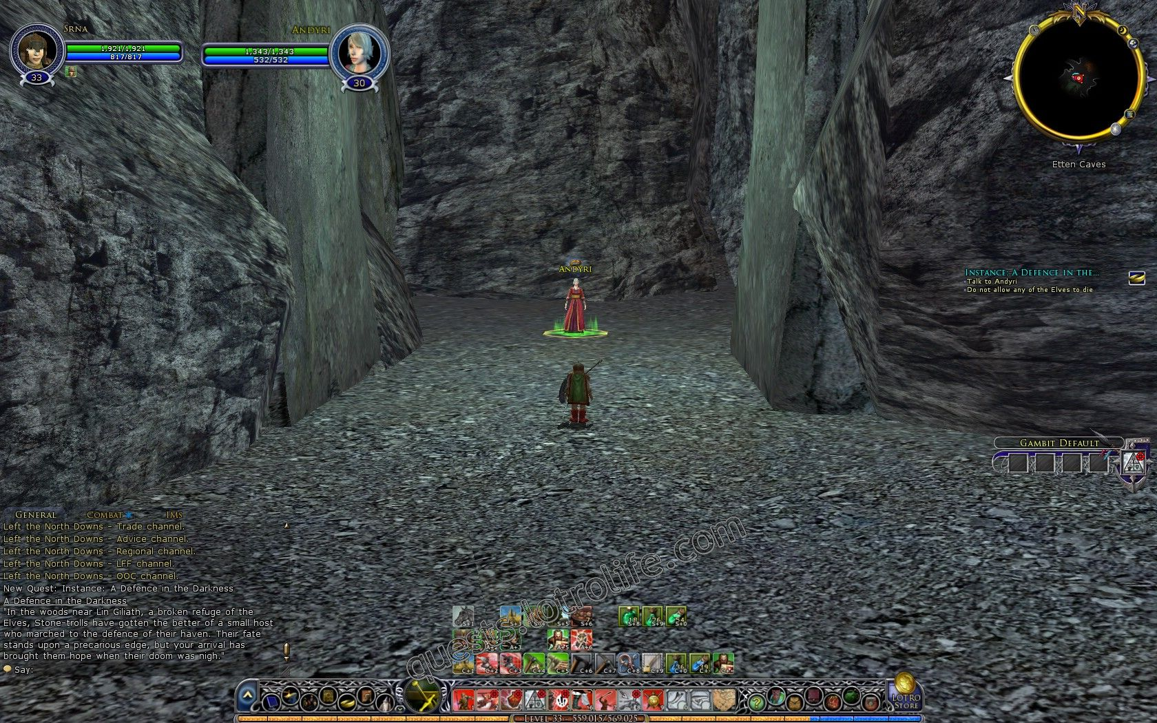 Quest: Instance: A Defence in the Darkness, objective 1, step 1 image 2908 middle size