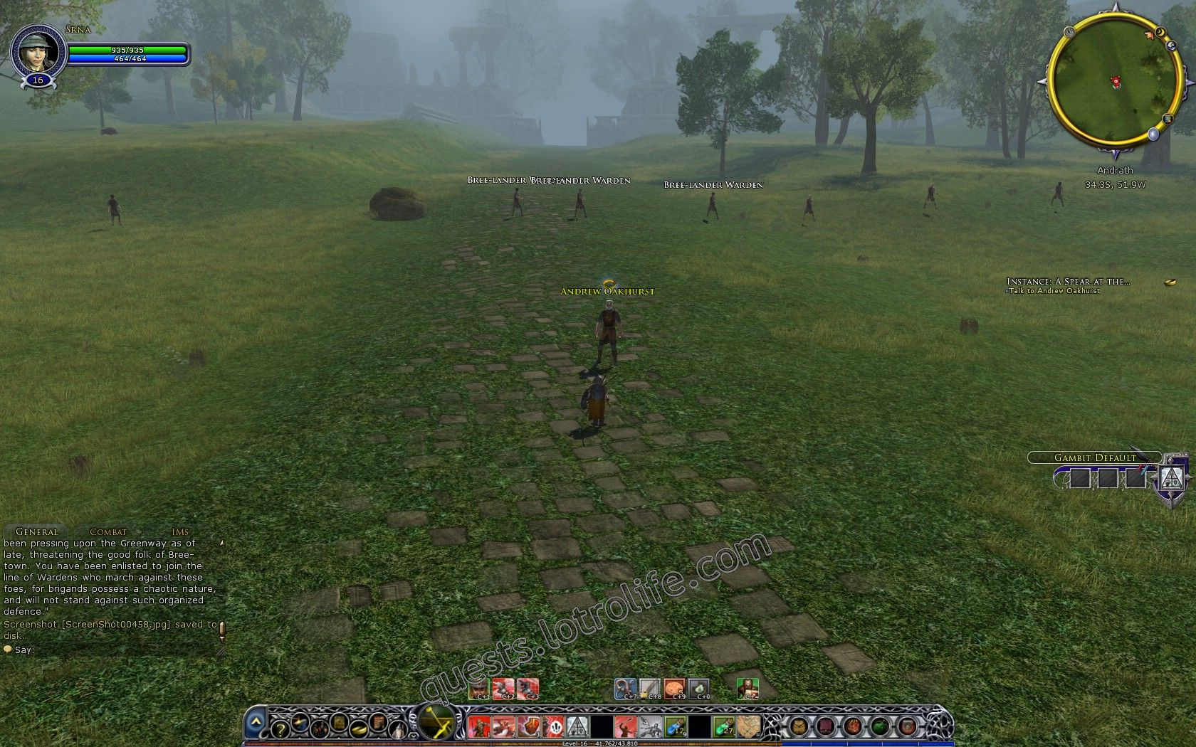 Quest: Instance: A Spear at the Southern March, objective 1, step 1 image 716 middle size