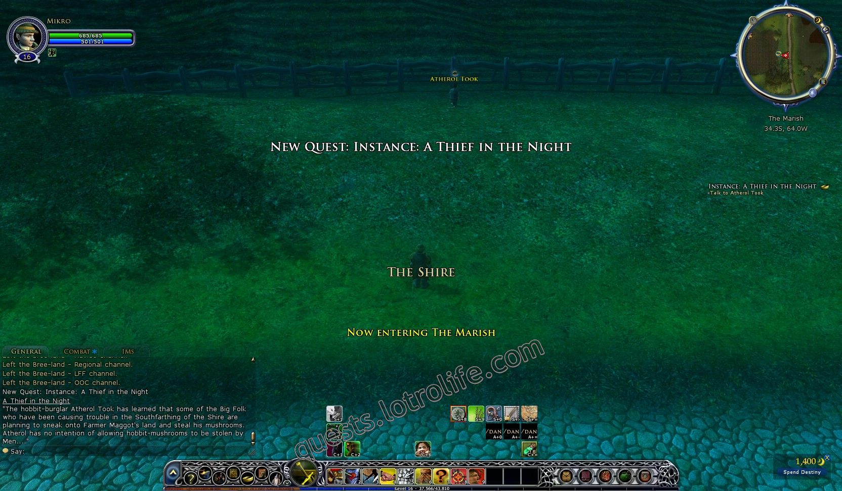 Quest: Instance: A Thief in the Night, objective 1, step 1 image 749 middle size