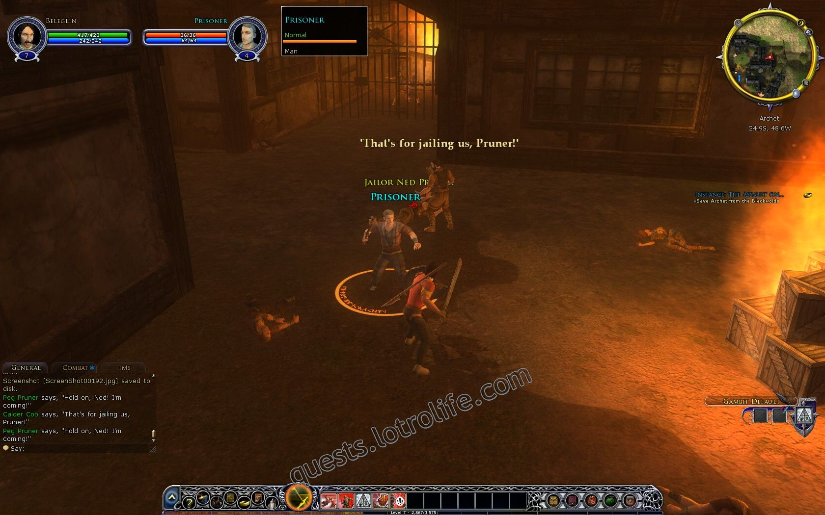Quest: Instance: The Assault on Archet, objective 1, step 2 image 188 middle size