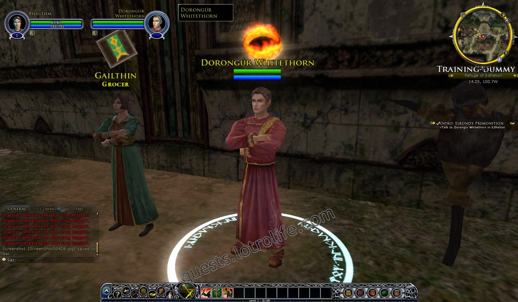 Quest: Intro: Elrond's Premonition, objective 1, step 1 image 117 middle size