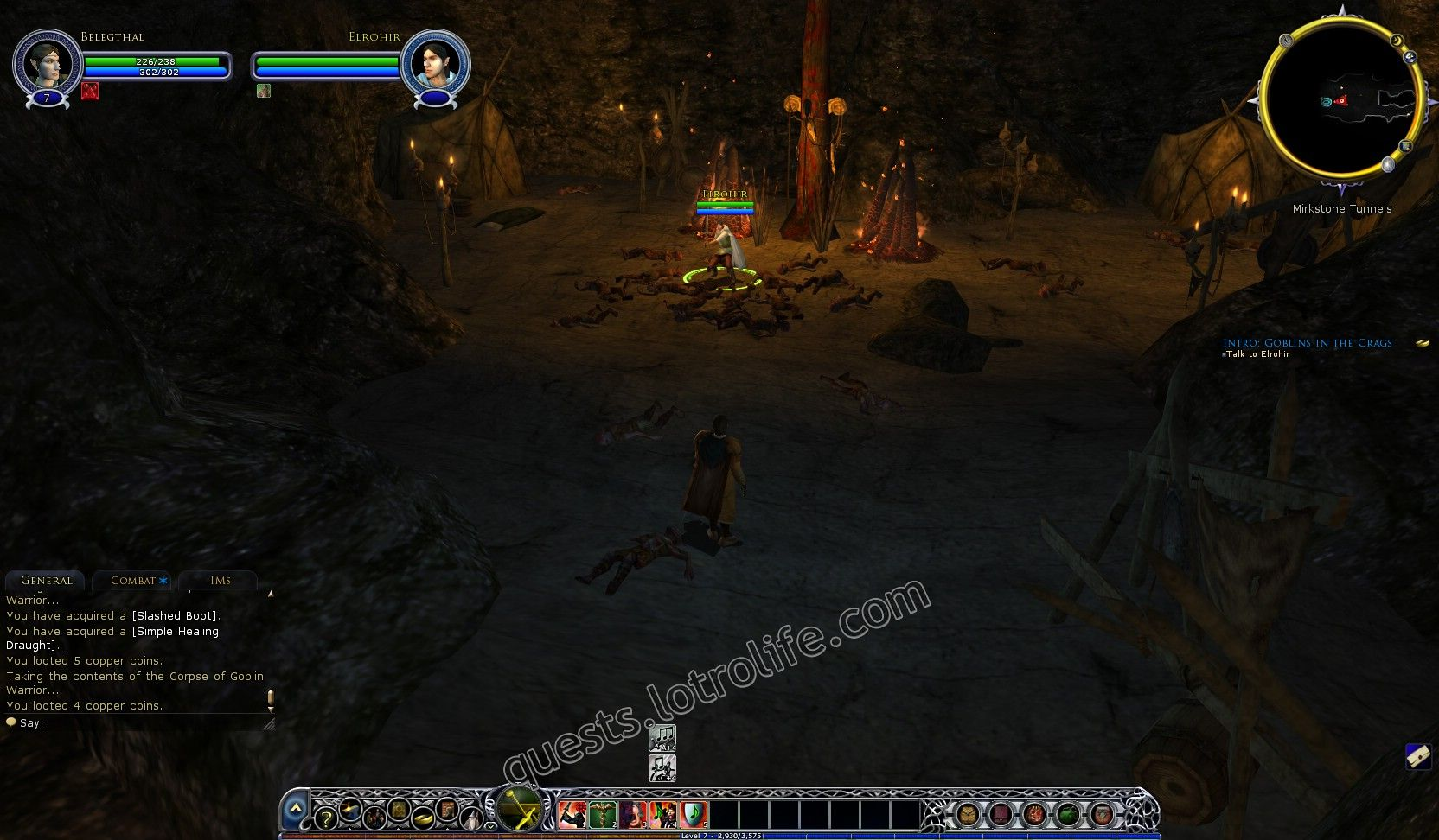 Quest: Intro: Goblins in the Crags, objective 1, step 1 image 260 middle size