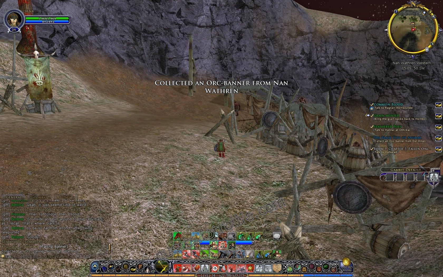 The Black Tide Of Angmar Lotro Quest Screenshot Walkthroughs The