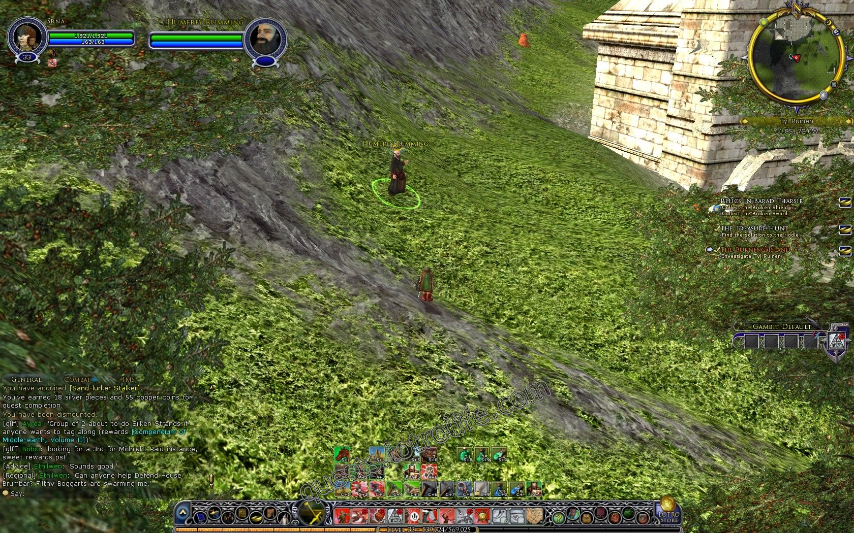 Quest: The Burning Island, objective 1, step 1 image 2838 middle size