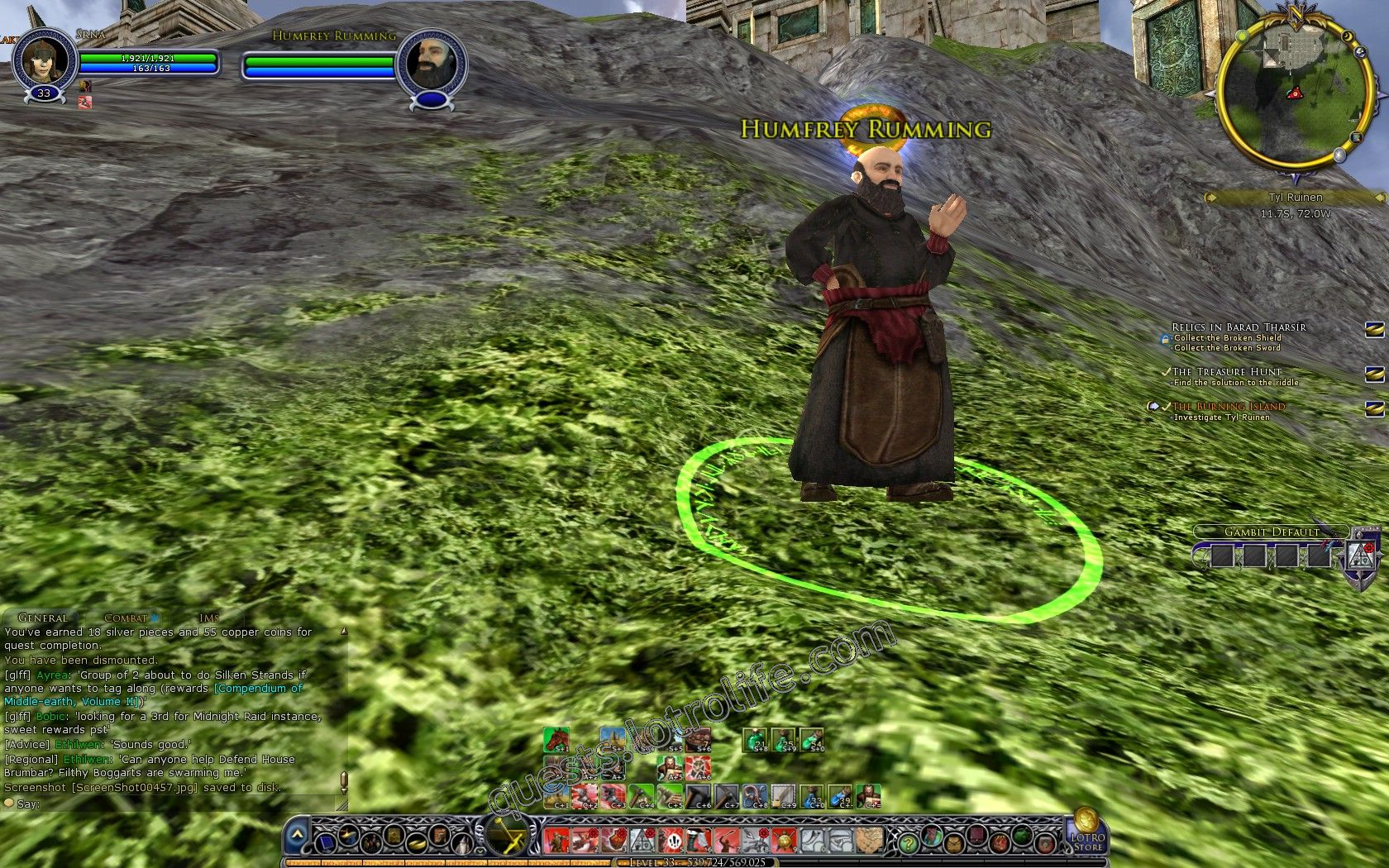 Quest: The Burning Island, objective 1, step 1 image 2837 middle size