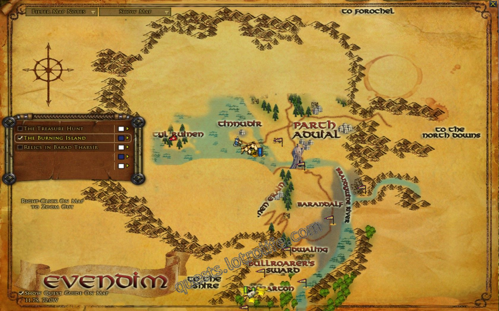 Quest: The Burning Island, objective 1, step 1 image 2839 middle size