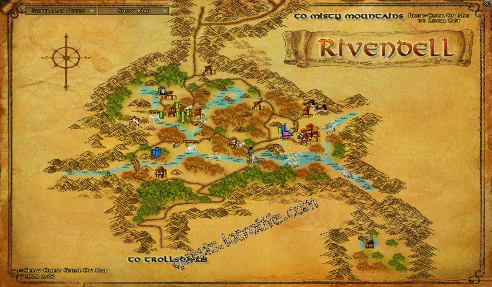 Quest: The Elves of Rivendell, objective 1, step 1 image 3424 middle size