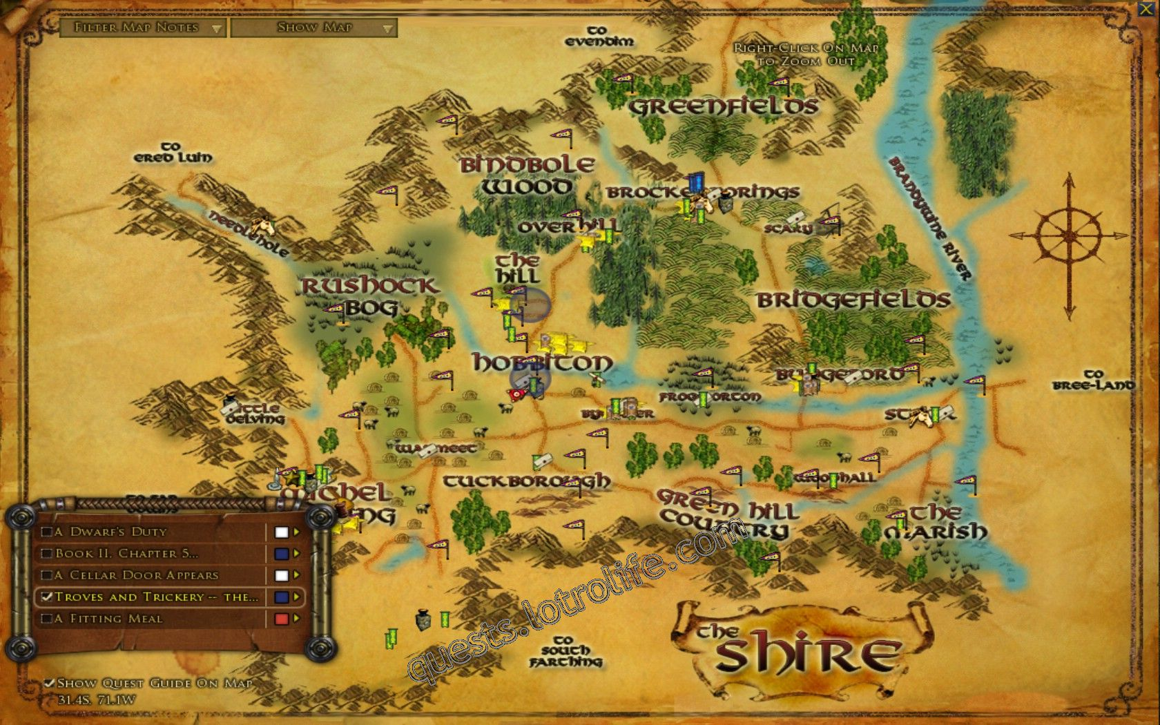 Quest: Troves and Trickery -- the Shire, objective 1 image 2243 middle size