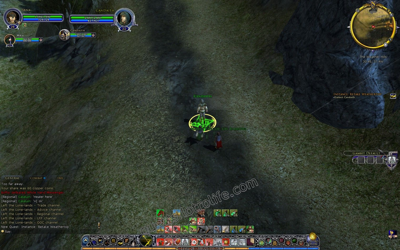 Quest: Vol. I, Book 2, Instance: Retake Weathertop, objective 1, step 1 image 2216 middle size