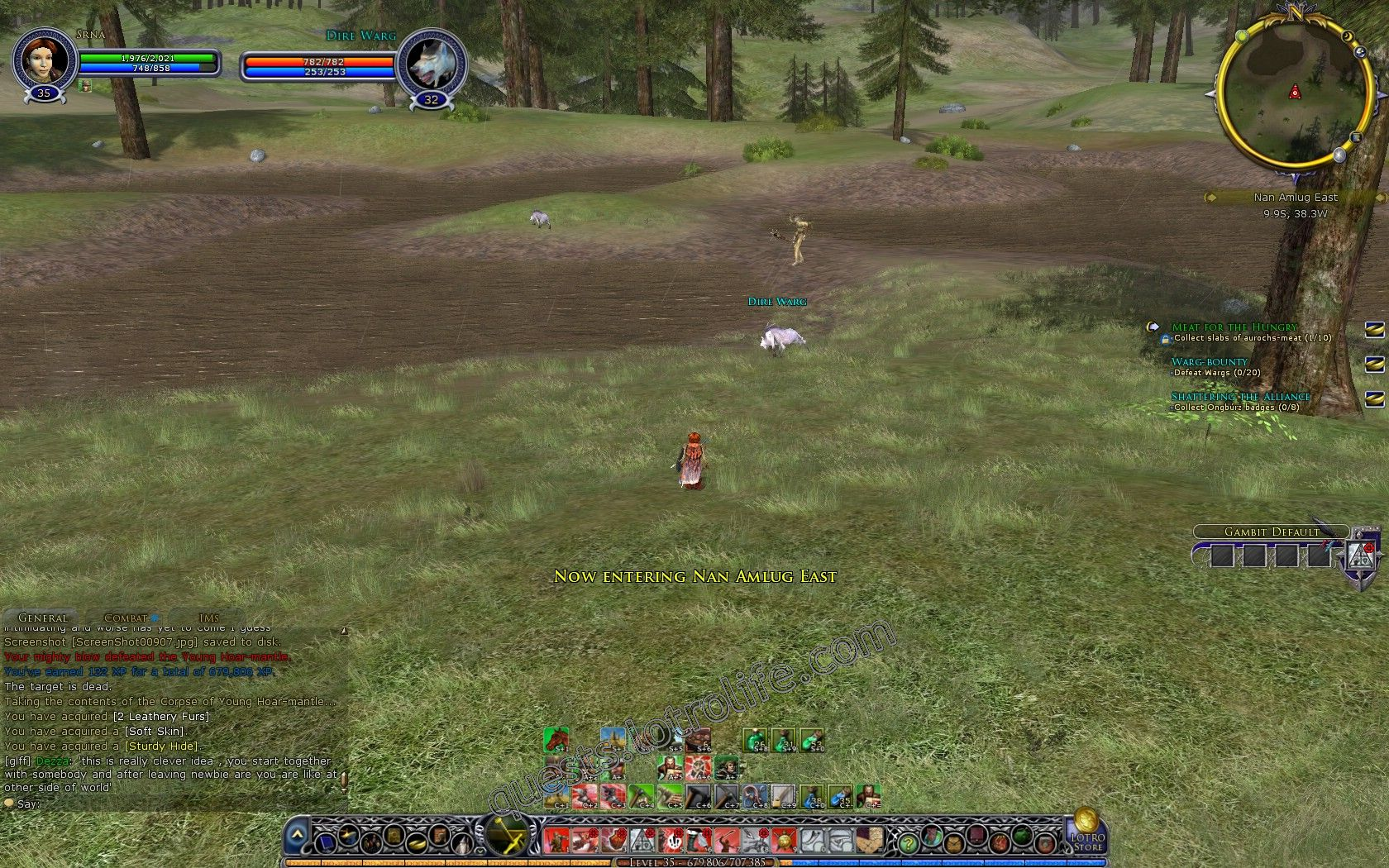Quest: Warg-bounty, objective 1, step 1 image 3222 middle size