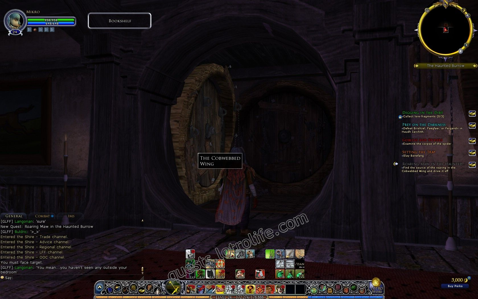 Quest: Roaring Maw in the Haunted Burrow, objective 1 image 2421 middle size