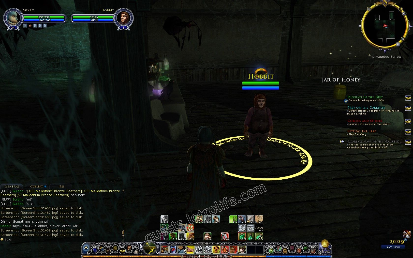 Quest: Roaring Maw in the Haunted Burrow, objective 1, step 1 image 2425 middle size