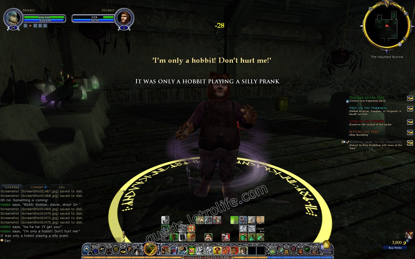 Quest: Roaring Maw in the Haunted Burrow, objective 1, step 1 image 2427 middle size