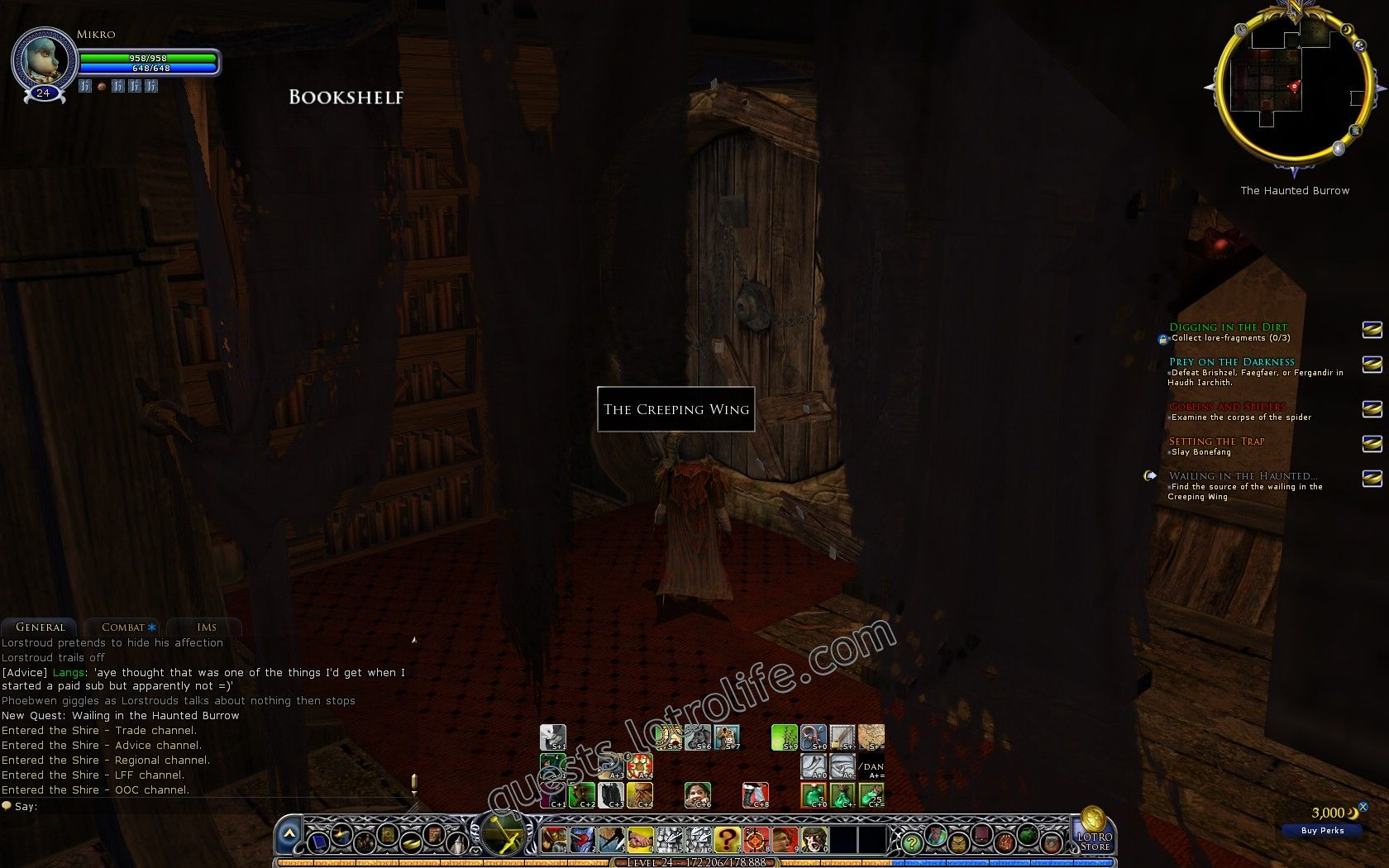 Quest: Wailing in the Haunted Burrow, objective 1 image 2413 middle size