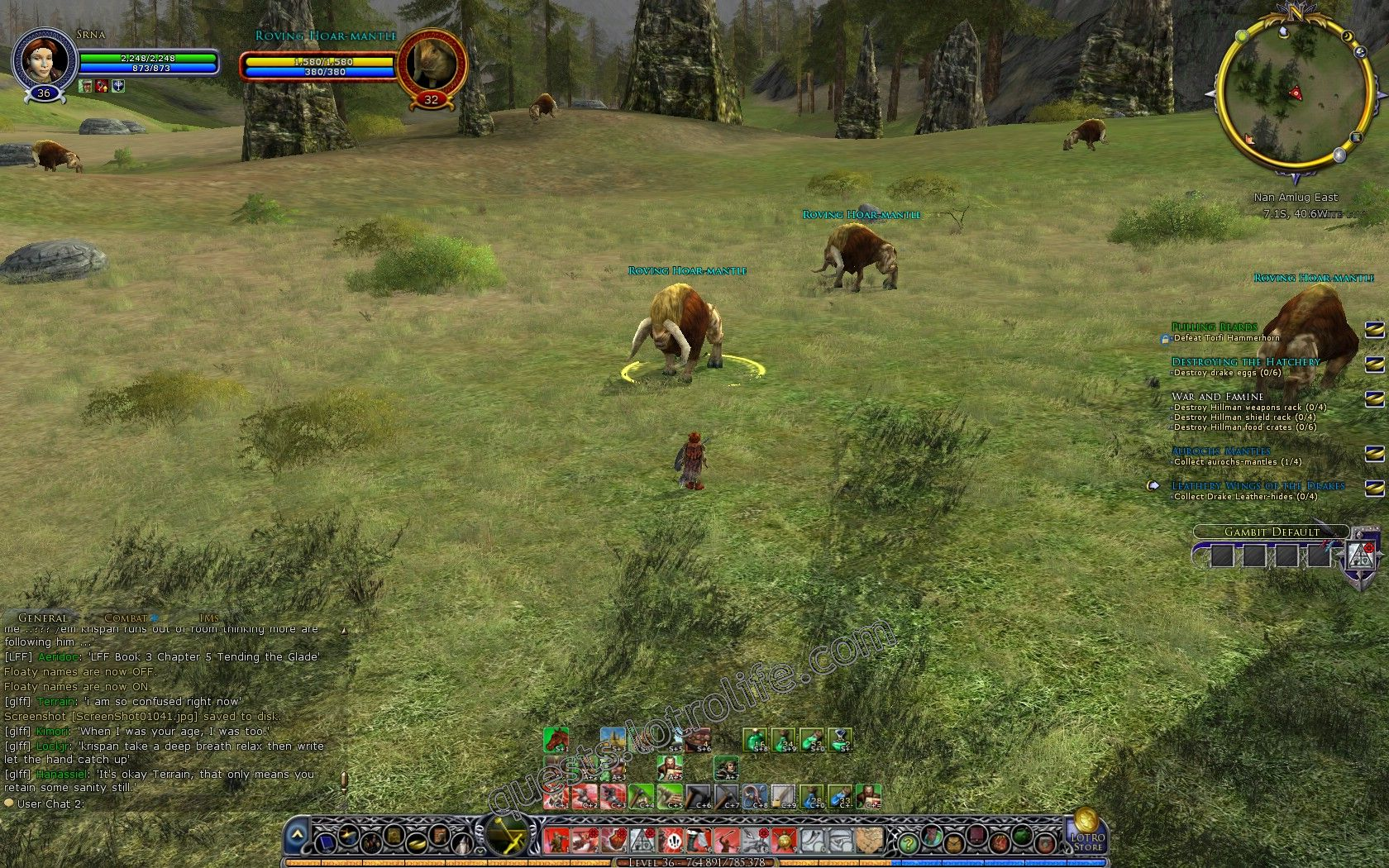 Quest: Aurochs Mantles, objective 1 image 3342 middle size