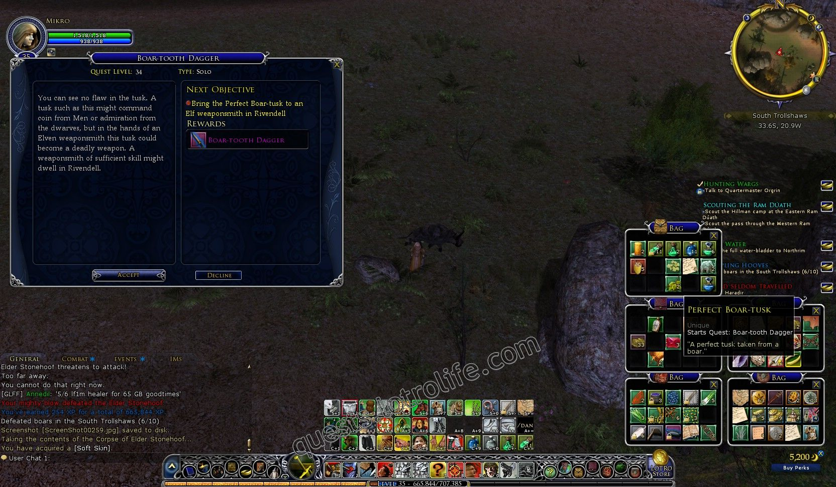 NPC: Perfect Boar-tusk (Item) image 2 middle size